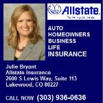 Allstate Insurance Agent Julie Bryant in Colorado can help protect you, your family and your automobile.  Call Now 303-936-0636